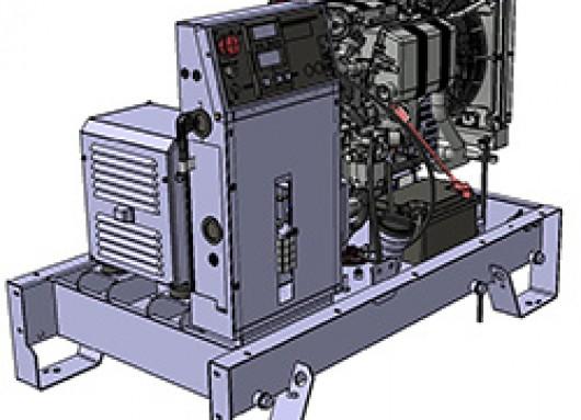 Groupe électrogène 9KVA sur chassis